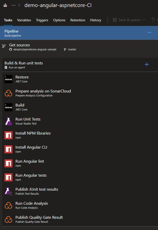 Create an Angular 7/ASP NET Core 2 2 Application and Push it to